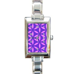 Pattern Texture Backgrounds Purple Rectangle Italian Charm Watch by HermanTelo