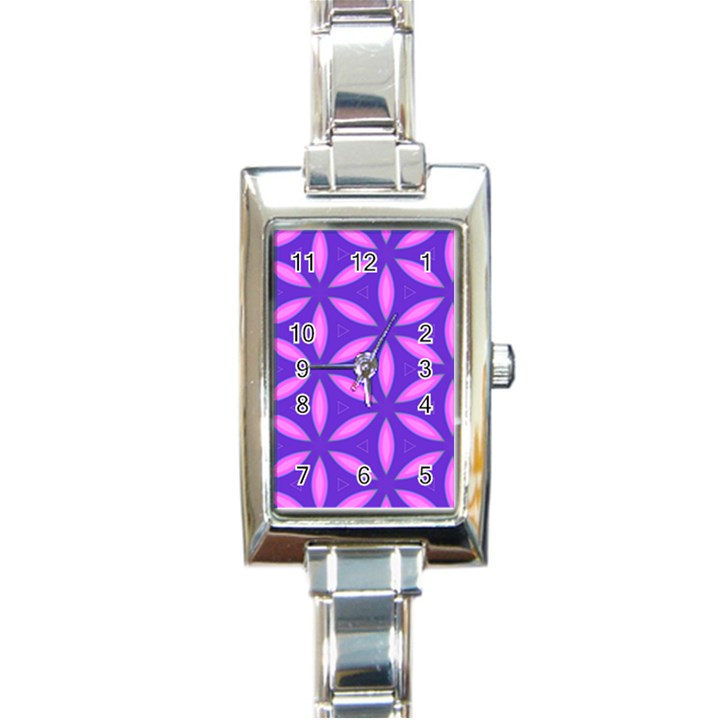 Pattern Texture Backgrounds Purple Rectangle Italian Charm Watch