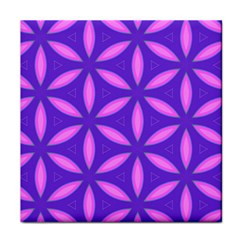 Pattern Texture Backgrounds Purple Tile Coaster by HermanTelo