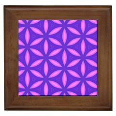 Pattern Texture Backgrounds Purple Framed Tile by HermanTelo