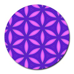 Pattern Texture Backgrounds Purple Round Mousepads