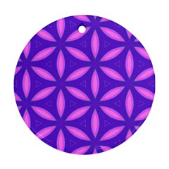 Pattern Texture Backgrounds Purple Ornament (Round)