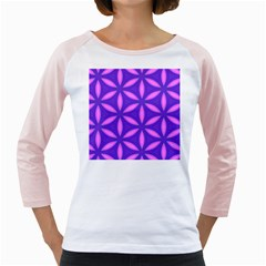 Pattern Texture Backgrounds Purple Girly Raglan