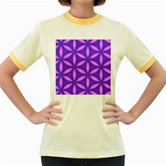 Pattern Texture Backgrounds Purple Women s Fitted Ringer T-Shirt