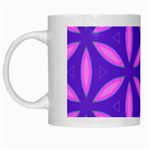 Pattern Texture Backgrounds Purple White Mugs Left