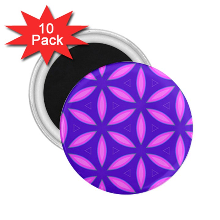 Pattern Texture Backgrounds Purple 2.25  Magnets (10 pack)