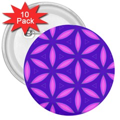 Pattern Texture Backgrounds Purple 3  Buttons (10 pack)