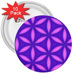 Pattern Texture Backgrounds Purple 3  Buttons (10 pack)  Front