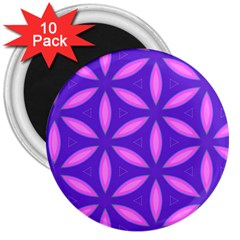 Pattern Texture Backgrounds Purple 3  Magnets (10 pack)