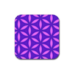 Pattern Texture Backgrounds Purple Rubber Square Coaster (4 pack)