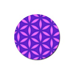 Pattern Texture Backgrounds Purple Rubber Coaster (Round)