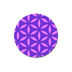 Pattern Texture Backgrounds Purple Magnet 3  (Round)
