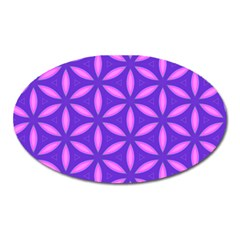 Pattern Texture Backgrounds Purple Oval Magnet
