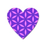 Pattern Texture Backgrounds Purple Heart Magnet Front