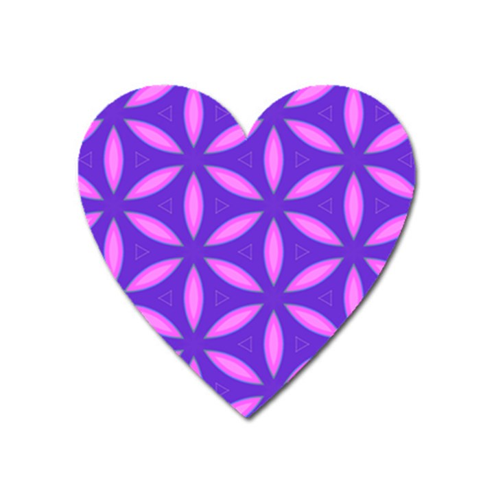 Pattern Texture Backgrounds Purple Heart Magnet