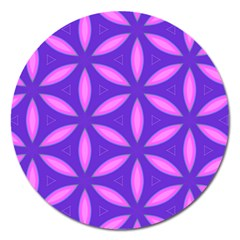 Pattern Texture Backgrounds Purple Magnet 5  (Round)