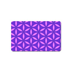 Pattern Texture Backgrounds Purple Magnet (Name Card)
