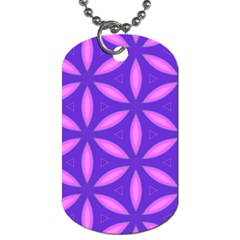 Pattern Texture Backgrounds Purple Dog Tag (two Sides)