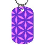 Pattern Texture Backgrounds Purple Dog Tag (Two Sides) Back