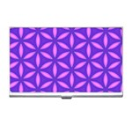 Pattern Texture Backgrounds Purple Business Card Holder Front