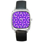 Pattern Texture Backgrounds Purple Square Metal Watch Front