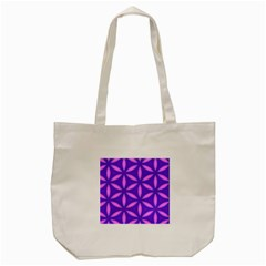 Pattern Texture Backgrounds Purple Tote Bag (Cream)