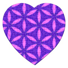 Pattern Texture Backgrounds Purple Jigsaw Puzzle (Heart)