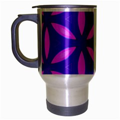 Pattern Texture Backgrounds Purple Travel Mug (Silver Gray)