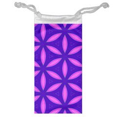 Pattern Texture Backgrounds Purple Jewelry Bag by HermanTelo