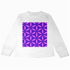 Pattern Texture Backgrounds Purple Kids Long Sleeve T-Shirts