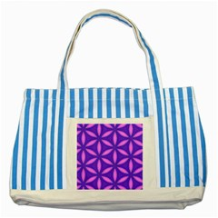 Pattern Texture Backgrounds Purple Striped Blue Tote Bag