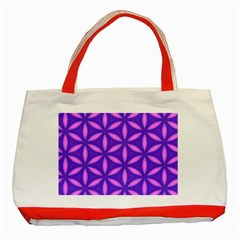 Pattern Texture Backgrounds Purple Classic Tote Bag (Red)