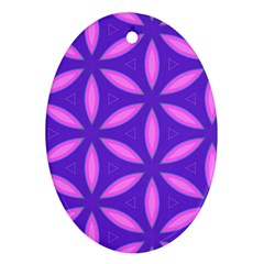 Pattern Texture Backgrounds Purple Oval Ornament (Two Sides)