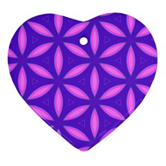 Pattern Texture Backgrounds Purple Heart Ornament (Two Sides)