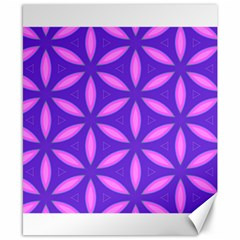 Pattern Texture Backgrounds Purple Canvas 8  X 10  by HermanTelo
