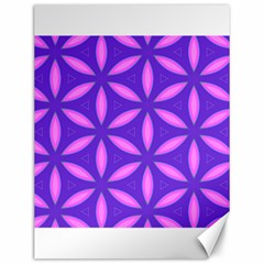 Pattern Texture Backgrounds Purple Canvas 12  X 16  by HermanTelo