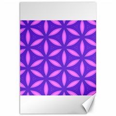 Pattern Texture Backgrounds Purple Canvas 12  X 18  by HermanTelo