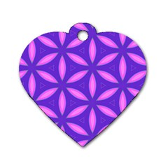 Pattern Texture Backgrounds Purple Dog Tag Heart (one Side) by HermanTelo