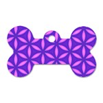 Pattern Texture Backgrounds Purple Dog Tag Bone (Two Sides) Front