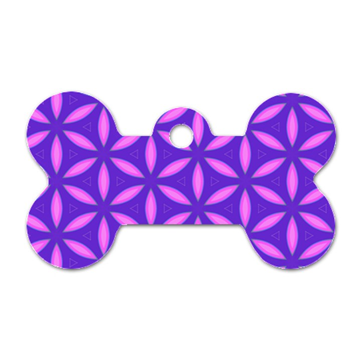 Pattern Texture Backgrounds Purple Dog Tag Bone (Two Sides)