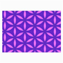 Pattern Texture Backgrounds Purple Large Glasses Cloth (2 Sides) by HermanTelo