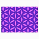 Pattern Texture Backgrounds Purple Large Glasses Cloth (2 Sides) Back