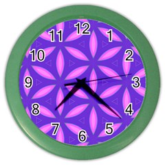 Pattern Texture Backgrounds Purple Color Wall Clock