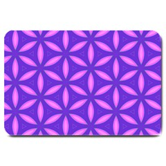 Pattern Texture Backgrounds Purple Large Doormat  by HermanTelo