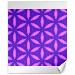 Pattern Texture Backgrounds Purple Canvas 11  X 14  by HermanTelo