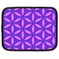 Pattern Texture Backgrounds Purple Netbook Case (Large)