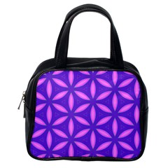 Pattern Texture Backgrounds Purple Classic Handbag (One Side)