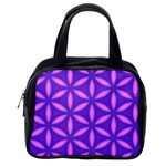 Pattern Texture Backgrounds Purple Classic Handbag (One Side) Front