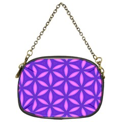 Pattern Texture Backgrounds Purple Chain Purse (Two Sides)