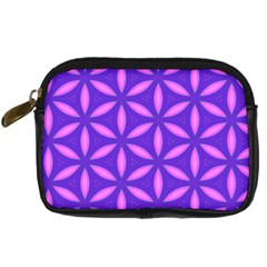 Pattern Texture Backgrounds Purple Digital Camera Leather Case